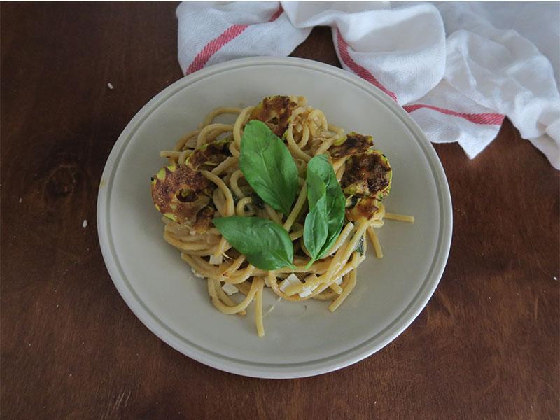 Spaghetti alla Nerano receta de Napoles