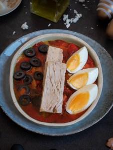 Pipirrana de pintahuevos de guarromán receta paso a paso