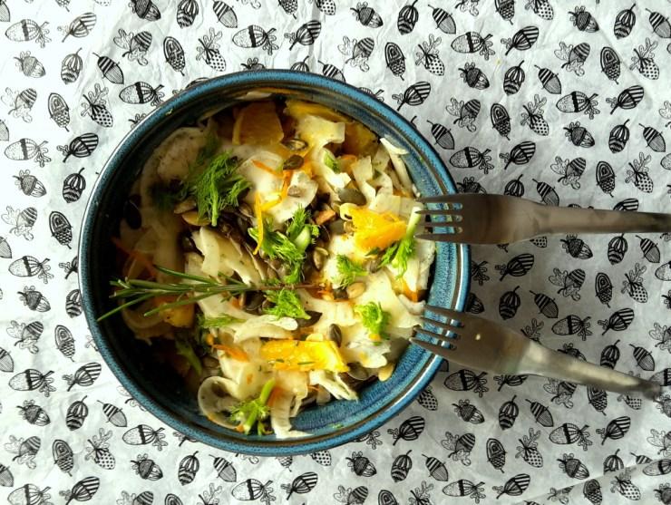 appelsinsalat med fennikel og rosmarin