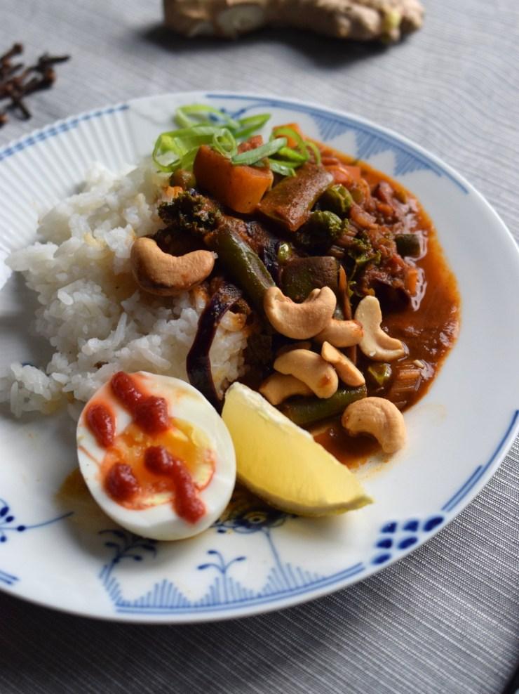 soendags curry, bland selv groent, gastroequation, vegetar, groenkål, groentsager, indisk, garam masala