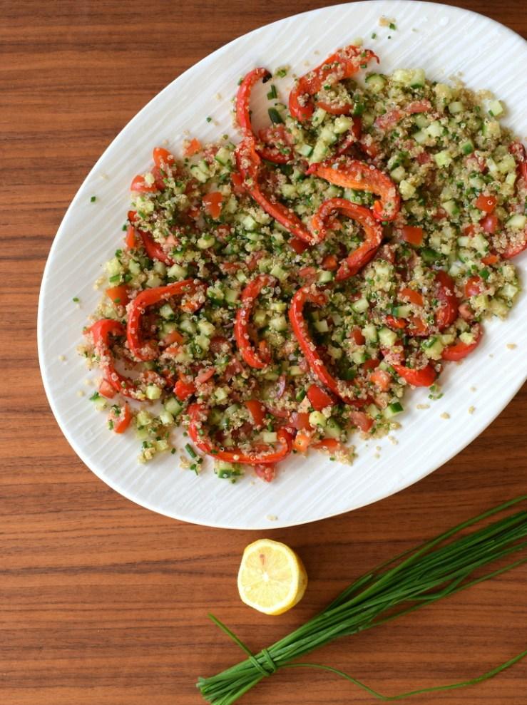 Tabbouleh, quinoa, low fodmap, fodmap venlig, mellemoestlig, salat, buffet, antiinflammatorisk, gastroequation, maaltidssalat