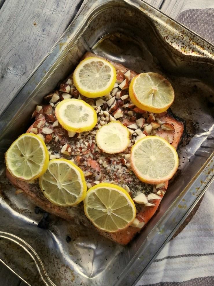 lakseside, mandler, citron, gasgrill, gastroequation, fisk, low fodmap, fodmapvenlig, ibs
