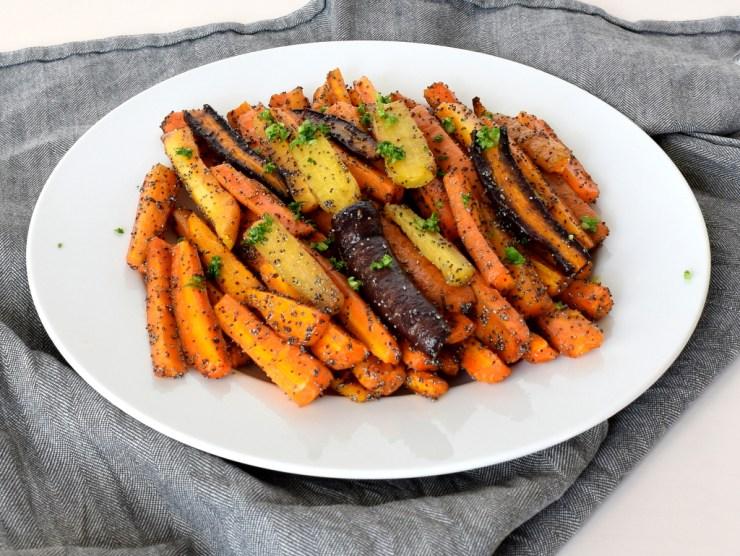 bagte gulerødder med birkes