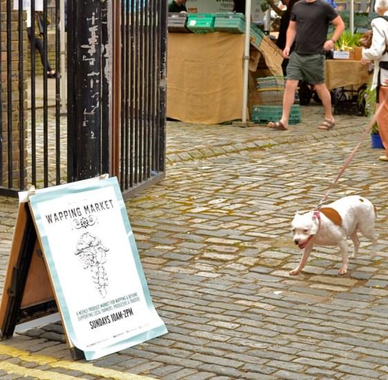 wapping market entrance dog