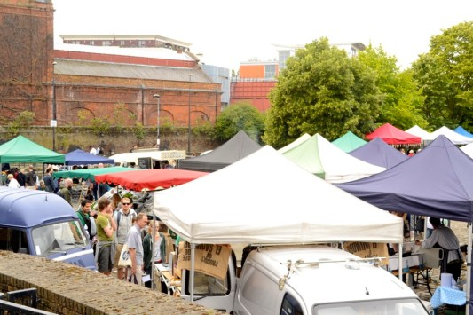 wapping market from above