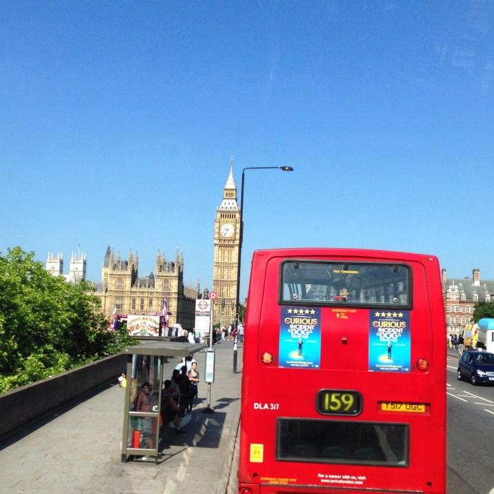 bus on westminster bridge