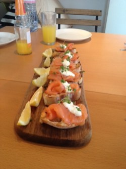 smoked salmon, salmon entree, salmon starter, salmon dinner party