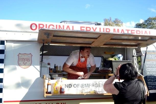 burger van, breakfast muffin, breakfast, london market, original fry material
