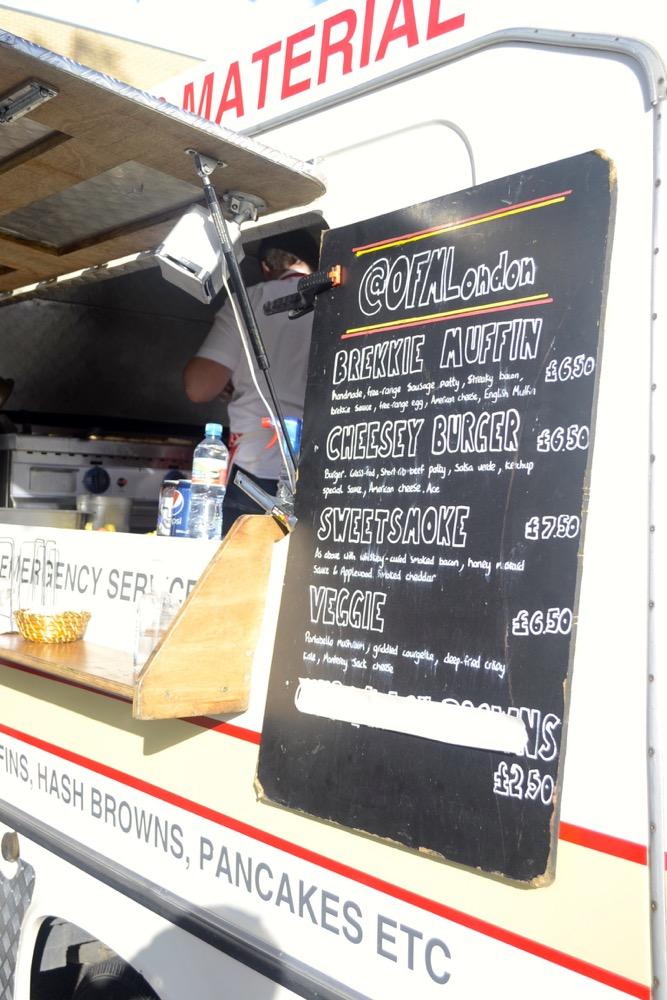 breakfast menu, burger van, original fry material, OFMLondon