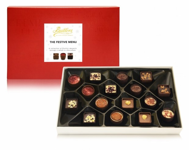 Butlers chocolate, christmas butlers chocolate, chocolate gift box christmas