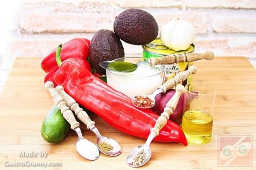Hozzávalók-Mexikói saláta