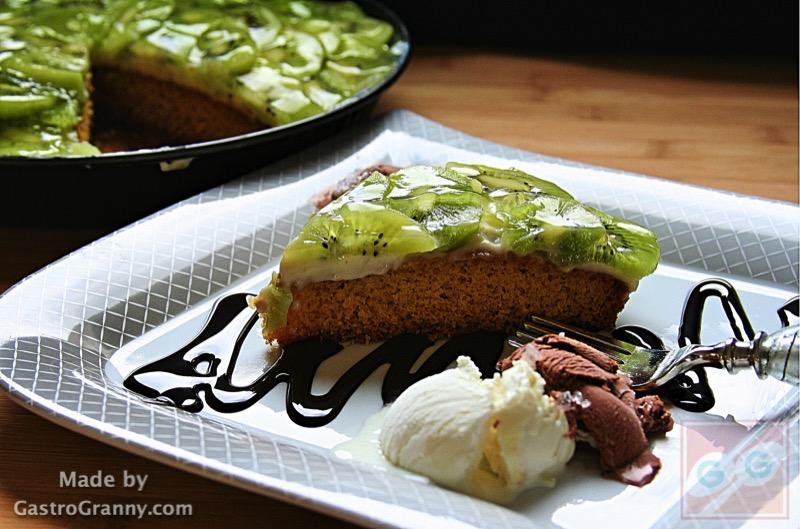 Vanília krémes kivi torta