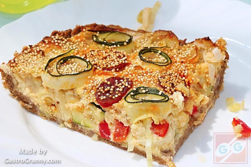 Kétsajtos zöldséges tart (pite) recept és video recept