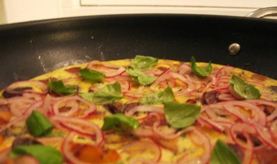 Æggekage – med kartofler og chorizo