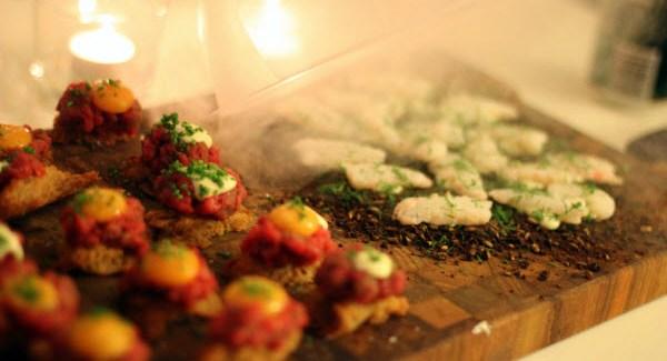 Opskrifter og billeder fra Gastromands nytårsmenu 2012: Snacks