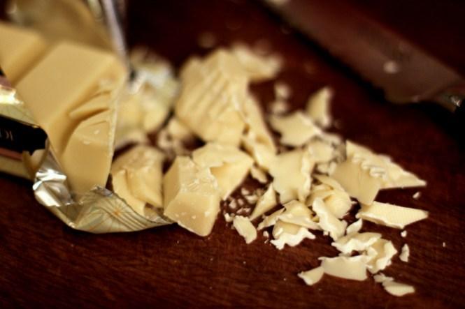 Masser af hvidchokolade...