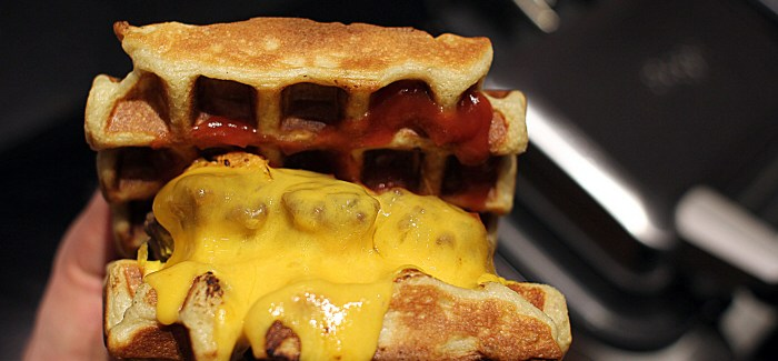 American Style: The Waffle Cheeseburger…