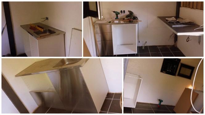 Køkkenet tager form.