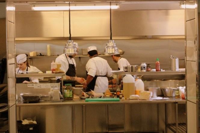 Køkkenet i fuld sving