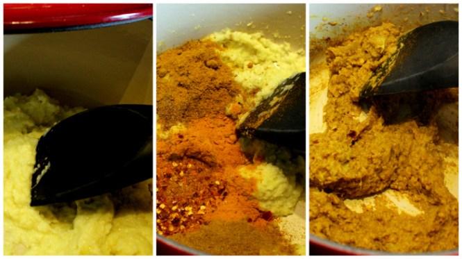 Løg, ingefær, hvidløg og mange krydderier!