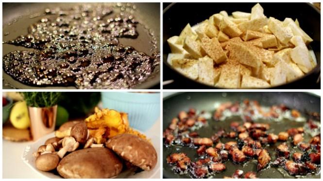 Glace - pure, svampe og bacon - vintermad når det er bedst...