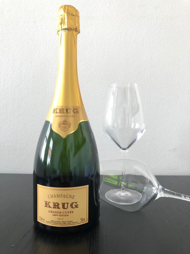 En flaske Krug Grande Cuvée