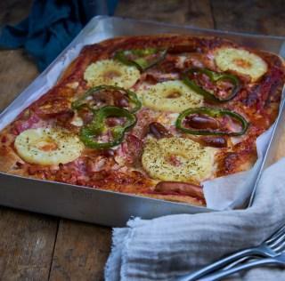 Høvdingeplade – Hjemmelavet OLD SCHOOL Pizza