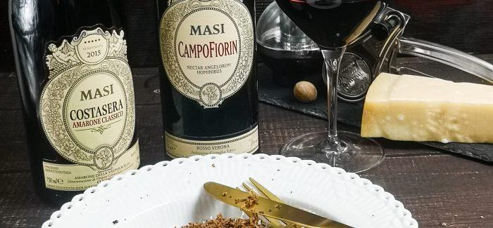 Rødvins-risotto og Amarone-vin fra Masi Wines