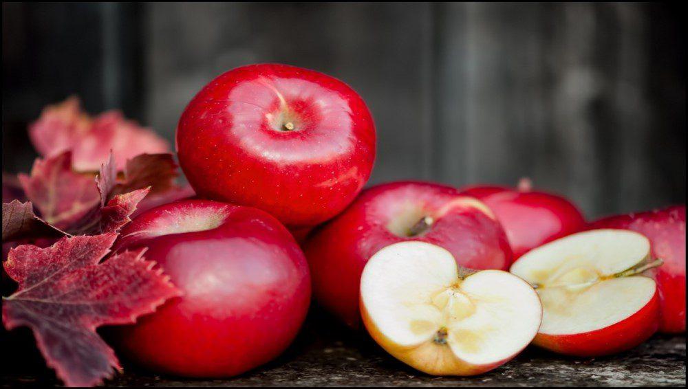 manzanas, fruta, frutos rojos