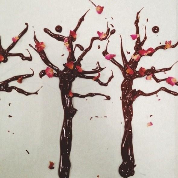 Árboles de chocolate para hallowen de Lily Vanilli