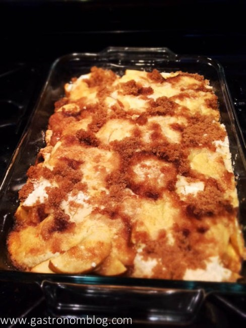 Apple DUmp Cake - Fresh out of the oven