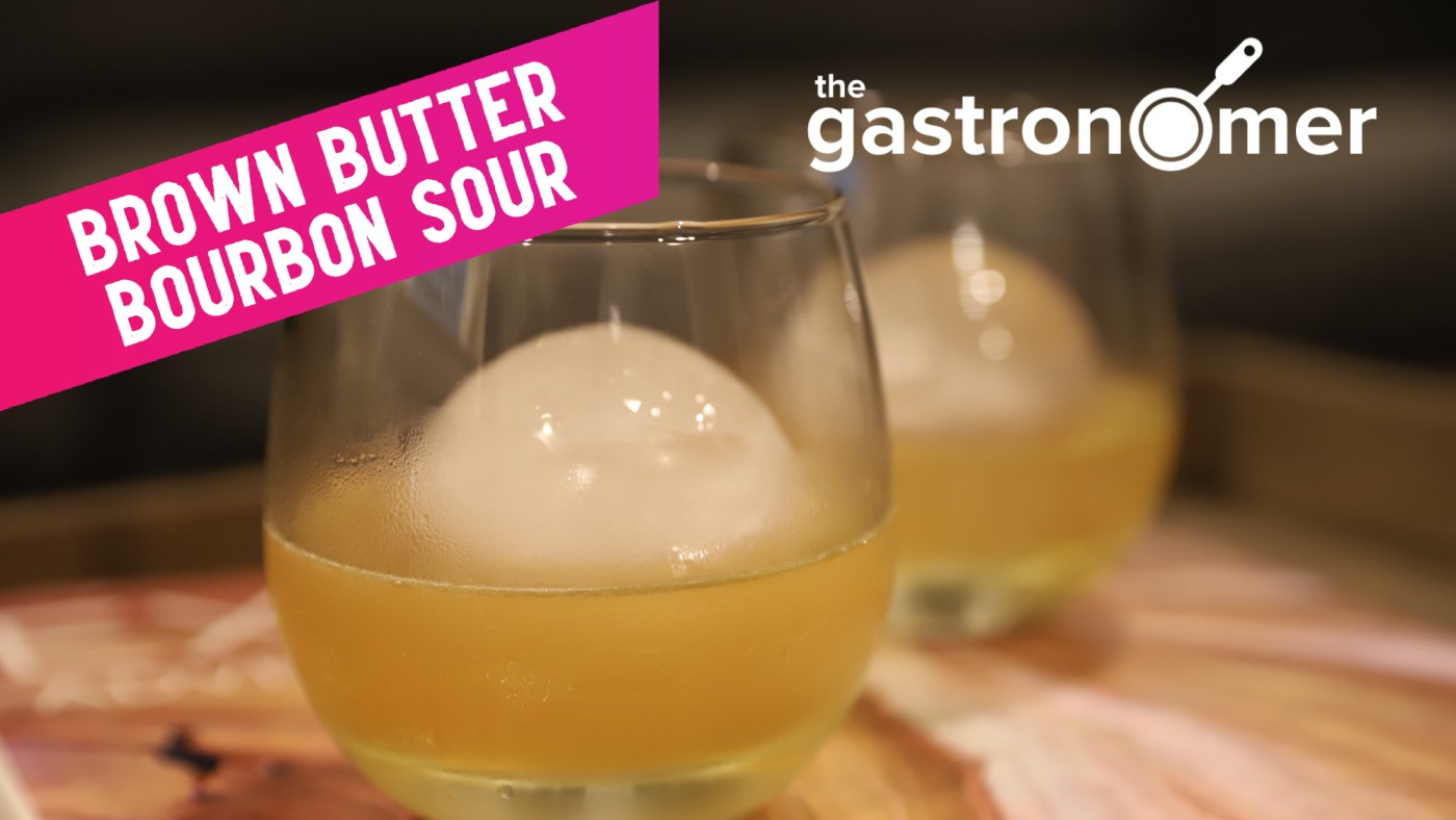 Fat Washed Brown Butter Bourbon Sour | The Gastronomer