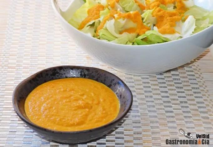 Vinagreta de zanahoria y jengibre