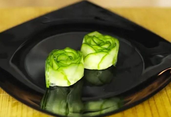 Cómo Hacer Una Rosa De Pepino Para Decorar Los Platos Gastronomía