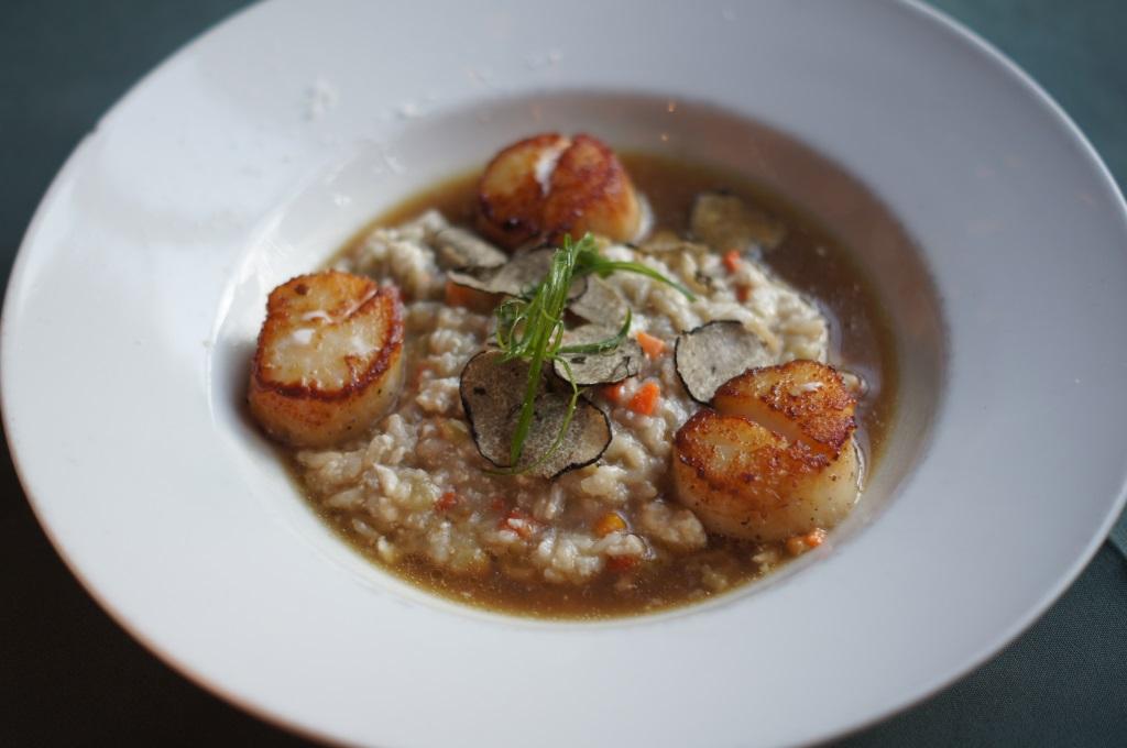Log Haven - Seared scallops truffle risotto