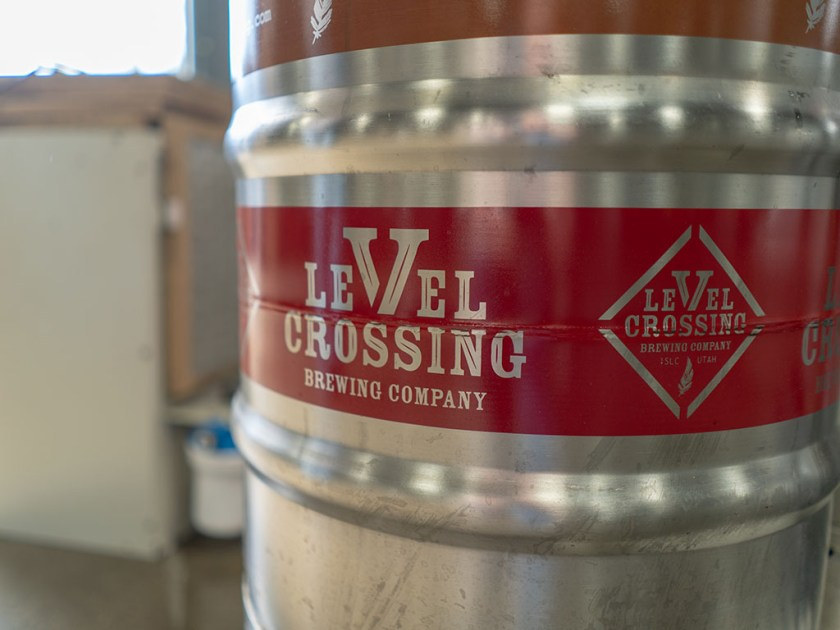 Level Crossing Brewing Company barrel