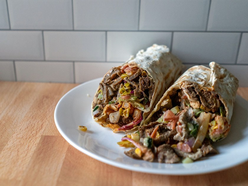 Spitz - doner wrap with beast mode upgrade