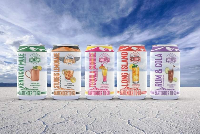 Salt Flats Spirits new canned cocktails