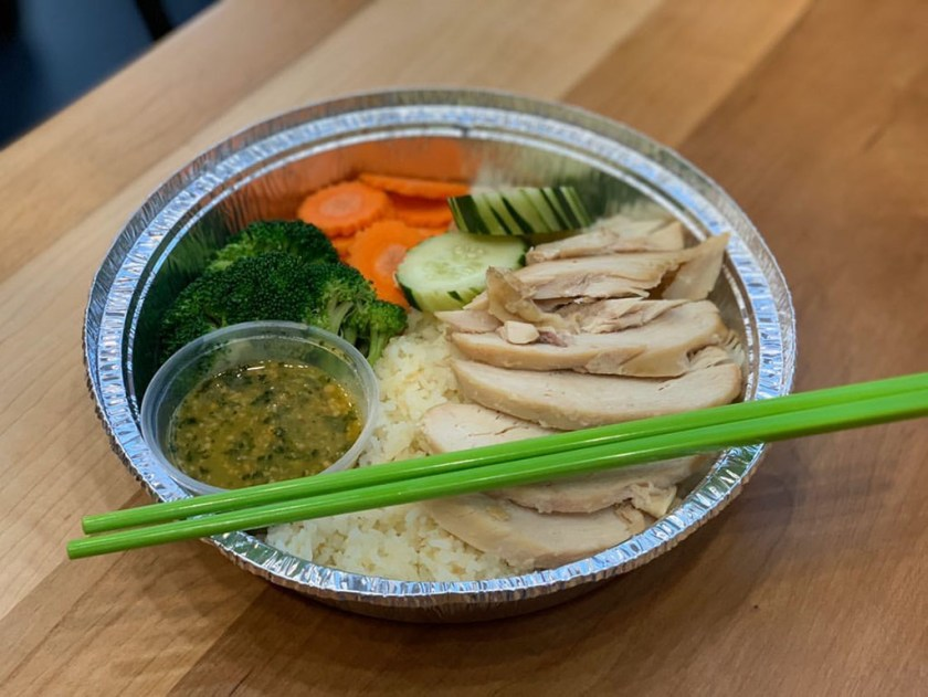 Noodle Run - garlic rice and chicken (Salt Plate City)