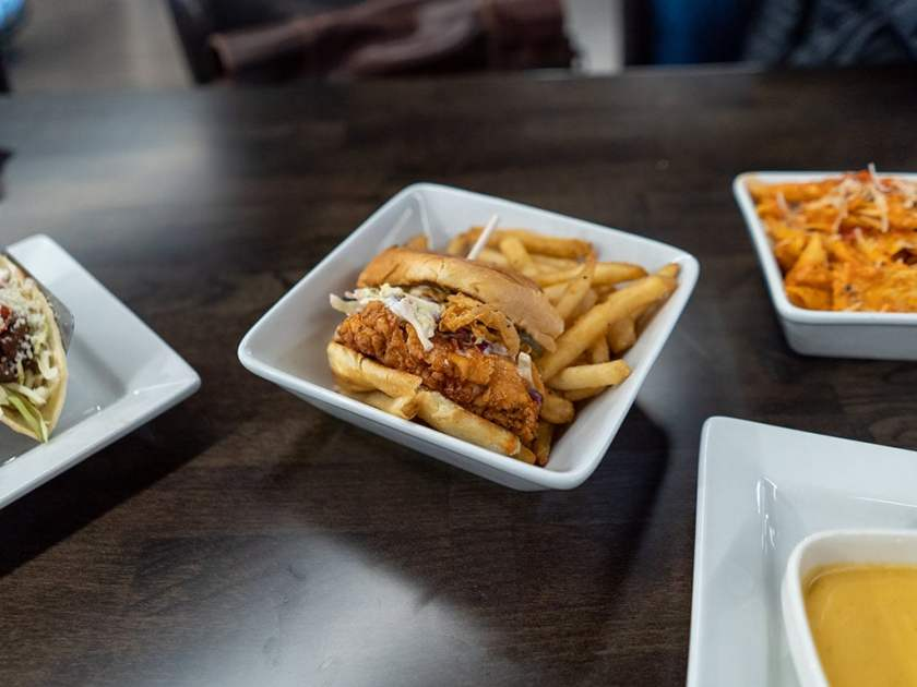 Pins And Ales - crispy chicken sandwich