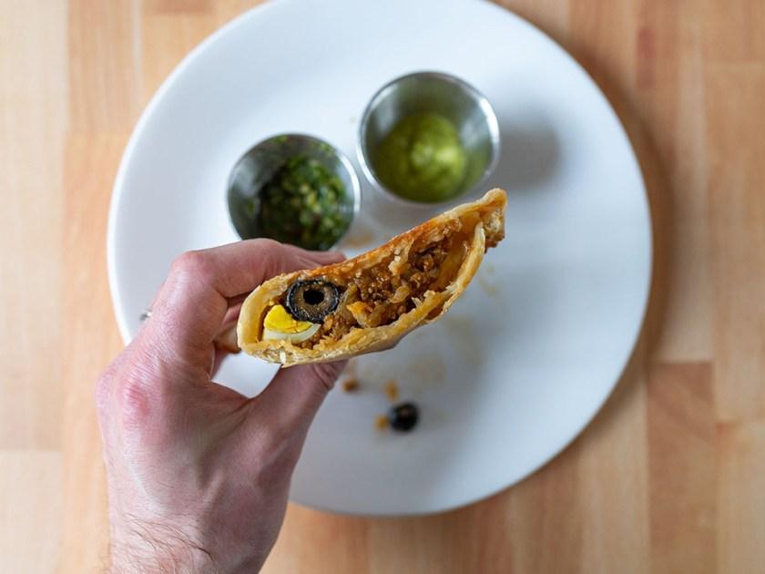 Noemis Catering empanadas interior with sauces