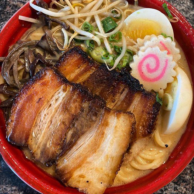 Kobe - tonkotsu with black garlic oil (slclunches)