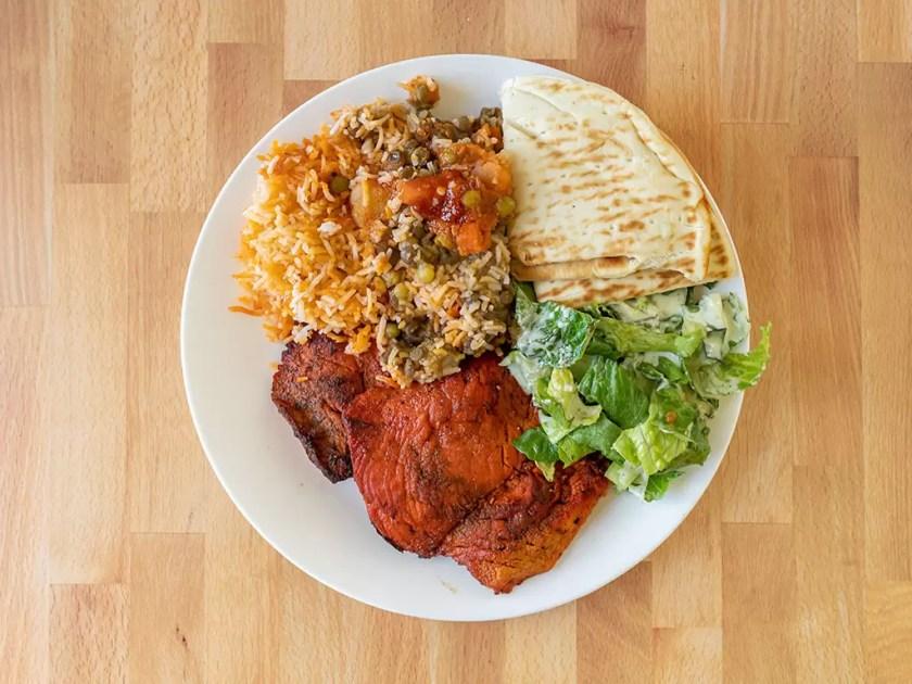 Curry Fried Chicken - tandoori chicken plate