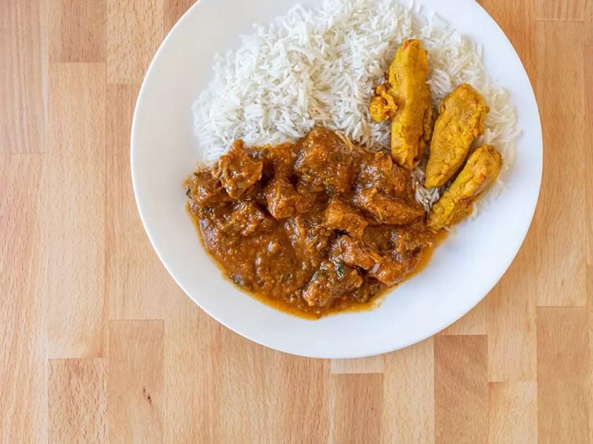 Gurkha's - lamb curry and chicken pakora