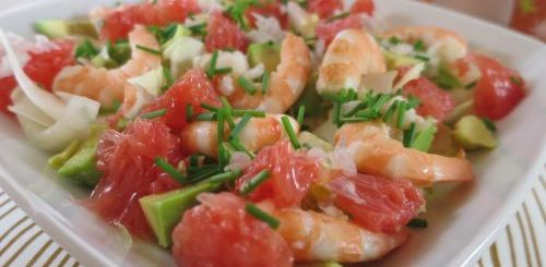 Salade d'endives aux crevettes