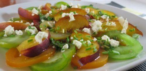 Carpaccio de tomates et nectarine