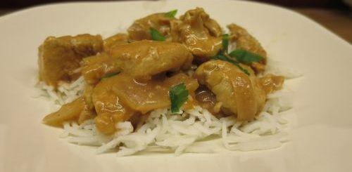 Emincé de poulet au gingembre et au cidre
