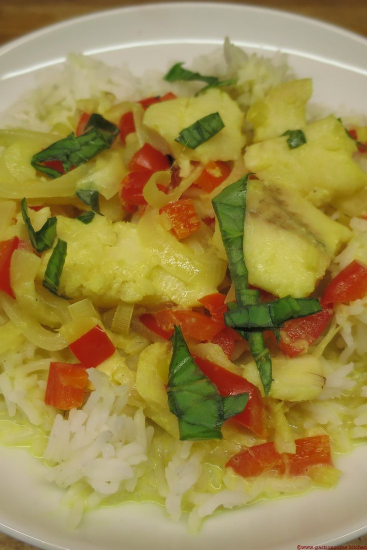 Wok de poisson au curry (240 kcal/portion de 300 gr)