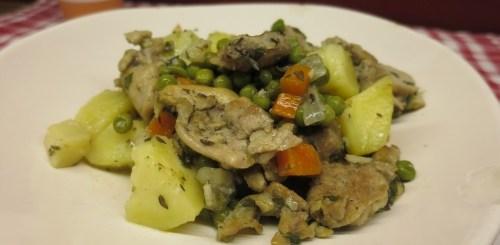 Poêlée de poulet aux petits légumes