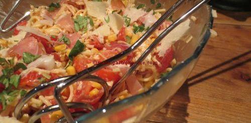 Salade de spaghettis